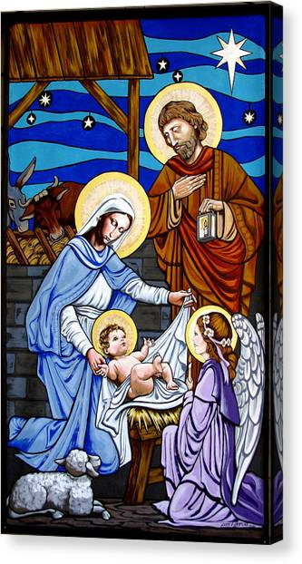 Nativity At Valley Ranch Canvas Print