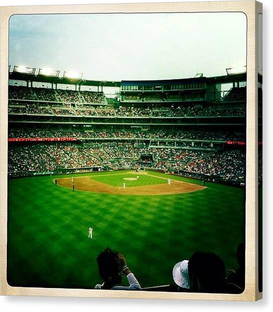 Washington Nationals Canvas Print - Nats Beat Mets by Cheryl Matochik