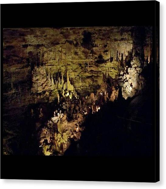 Spelunking Canvas Print - #natural #bridge #caverns #nbc by Clifford McClure
