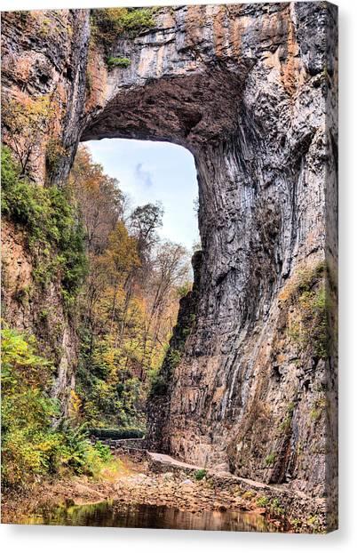 Natural Bridge Virginia Canvas Print by JC Findley
