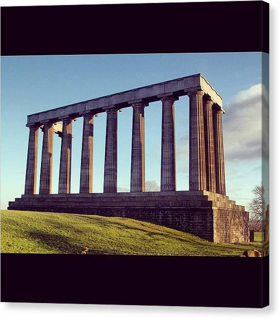 The Acropolis Canvas Print - #nature #sky #iphonography #instagram by Toonster The Bold