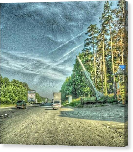 War Canvas Print - Near Ekaterinburg. This Is Real Air by Igor Che 💎