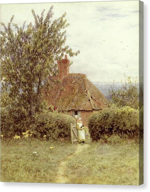 Country Canvas Print - Near Haslemere by Helen Allingham