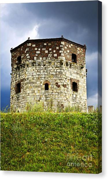 Fortification Canvas Print - Nebojsa Tower In Belgrade by Elena Elisseeva