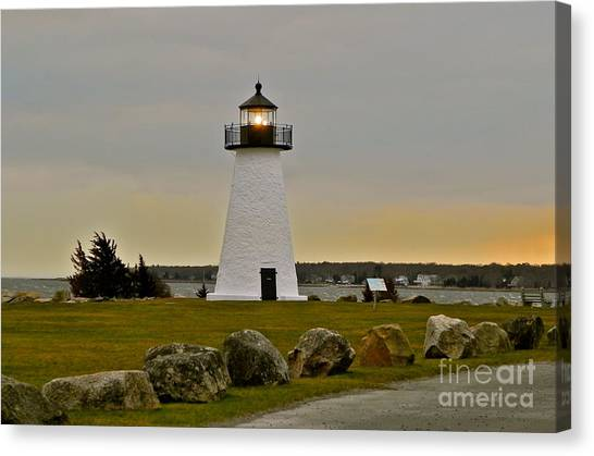 Ned's Point Lighthouse Canvas Print by Nick Korstad