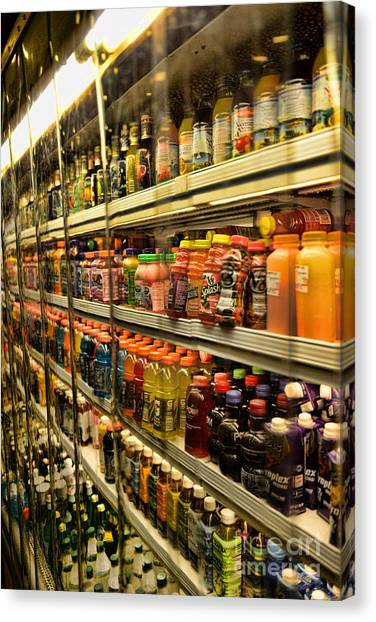 Grocery Store Canvas Print - Need A Drink? by Paul Ward