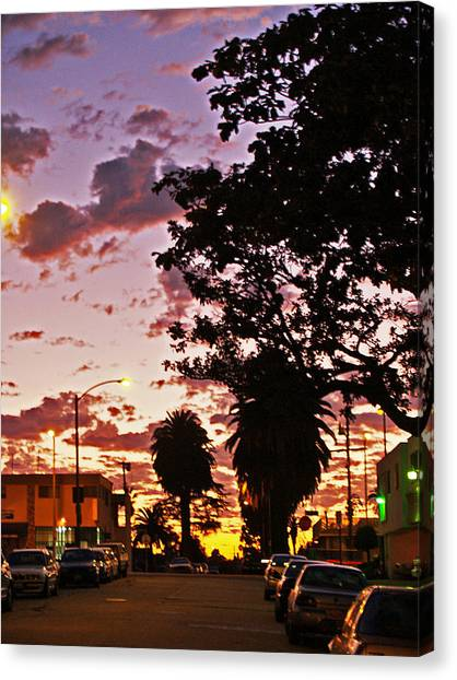 Neighborhood Silhouette  Canvas Print by D Wash