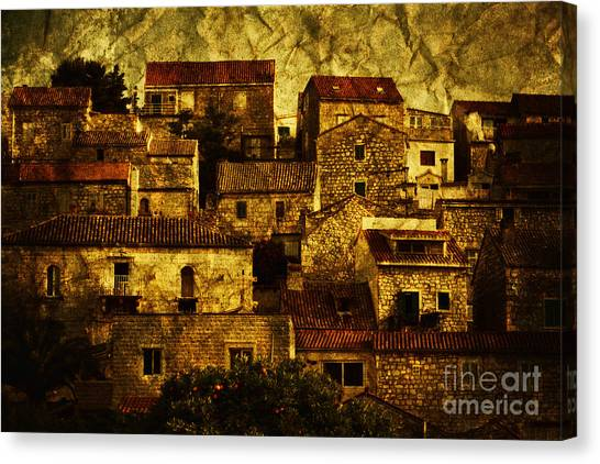House Canvas Print - Neighbourhood by Andrew Paranavitana