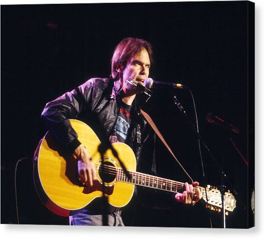 Neil Young Canvas Print - Neil Young 1986 by Chris Walter