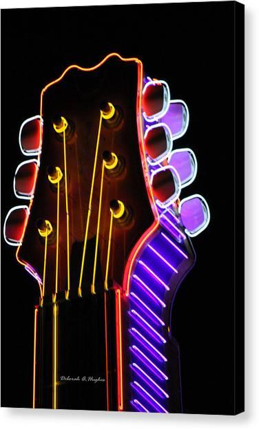 Neon Bridge Canvas Print
