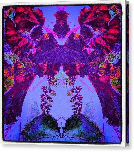 Droid Canvas Print - Neon Flamenco Goddess #android by Marianne Dow