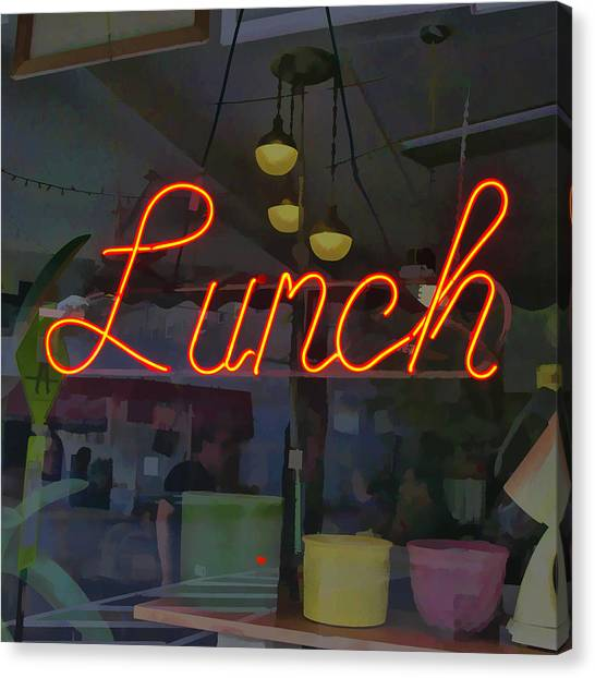 Neon Lunch Sign Canvas Print