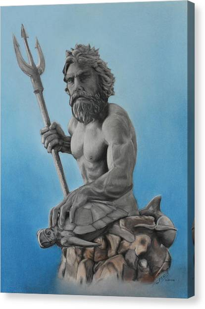 Neptune Canvas Print by Miguel Rodriguez