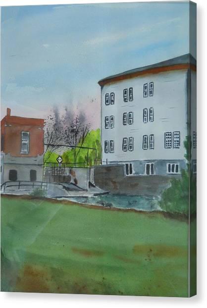 Neshkoro Mill And Dam Canvas Print