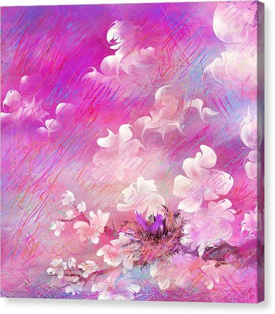 Rain Canvas Print - Nest by Rachel Christine Nowicki
