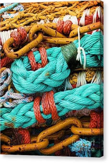 Nets And Knots Number Four Canvas Print
