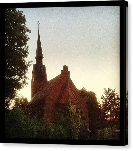 Stroke Canvas Print - Neun Schläge #nine #strokes #church by Valnowy Photography