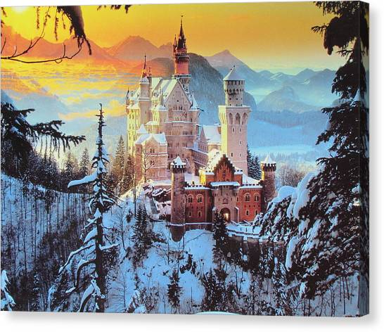 Neuswanstein Winter Canvas Print