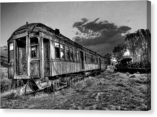Train Conductor Canvas Print - Nevada City Ghost Town Train by Daniel Hagerman