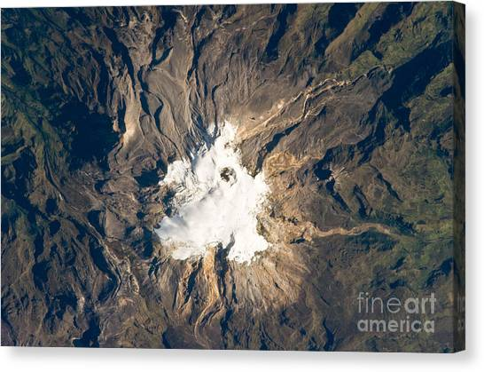 Nevado Del Ruiz Canvas Print - Nevado Del Ruiz Volcano, Colombia by NASA/Science Source