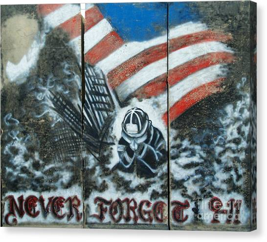 Never Forget 9-11 Canvas Print by Unknown
