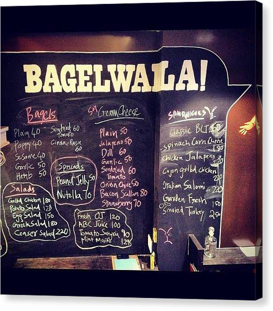 Sandwich Canvas Print - New Bagel Place In Town : Bagelwala ! by Sahil Gupta