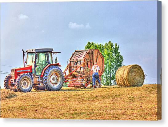 New Bale Canvas Print by Barry Jones