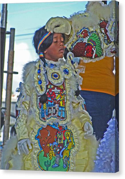 New Generation Of Mardi Gras Indians In New Orleans Canvas Print