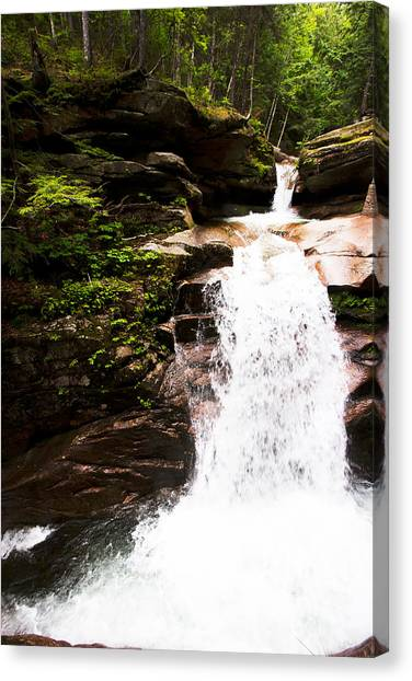 New Hampshire Waterfall Canvas Print