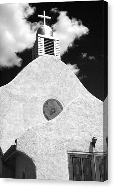 New Mexico Church Canvas Print by Sonja Quintero
