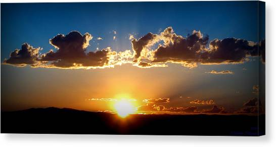 New Mexico Late Summer Skies Canvas Print by Aaron Burrows