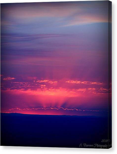 New Mexico Sky Colors Canvas Print by Aaron Burrows