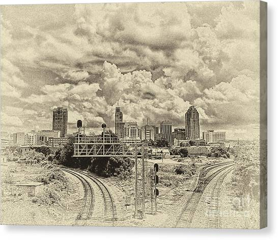 New Old Time Raleigh Nc Canvas Print