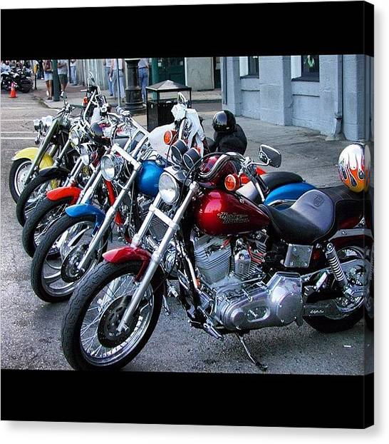 Harley Davidson Canvas Print - New Orleans Harley Group by L. Chris Curry