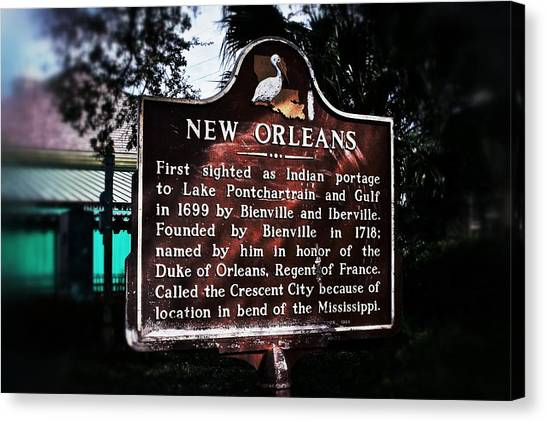 New Orleans History Marker Canvas Print