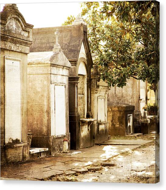 City Of The Dead Canvas Print - New Orleans Lafayette Cemetery No.1 by Kim Fearheiley