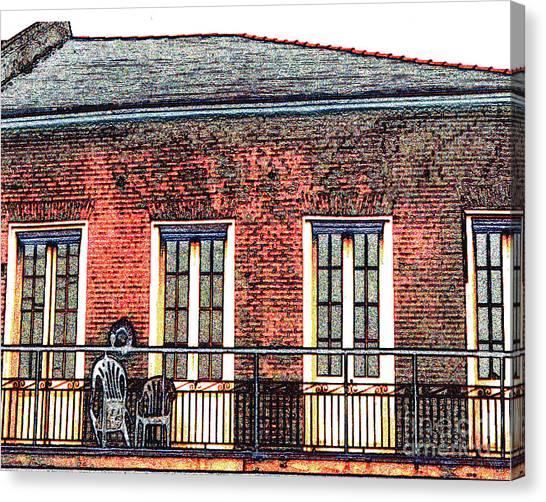 New Orleans Plantation House Canvas Print by Merton Allen