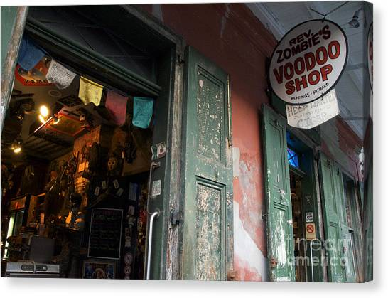 Rev Zombies Canvas Print - New Orleans Voodoo Shop by Jeanne  Woods