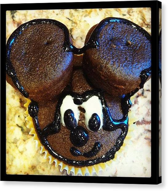 Mice Canvas Print - New Oven, New Me, New Cupcake by Danielle N