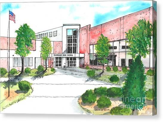 New Riverside High School Canvas Print