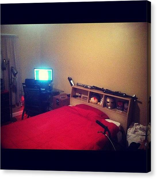 Big Red Canvas Print - New Room. #bedroom #bed #red #bigger by Joshua Wilson