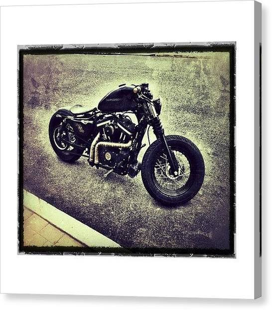 Harley Davidson Canvas Print - New #wheels#wideglide Front End by Omar Elsebai