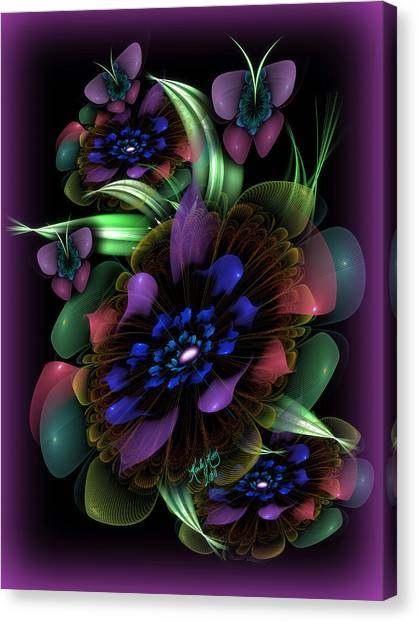 New Year's Bouquet Canvas Print by Karla White