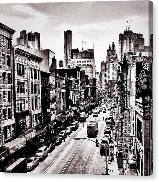 Skylines Canvas Print - New York City - Above Chinatown by Vivienne Gucwa