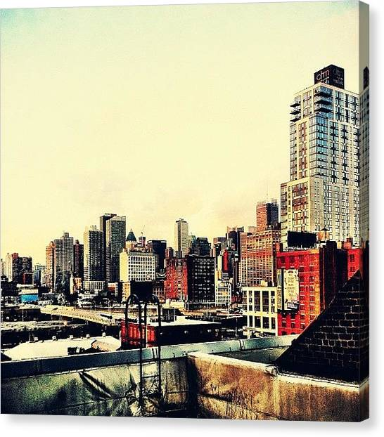 Times Square Canvas Print - New York City Rooftops by Vivienne Gucwa