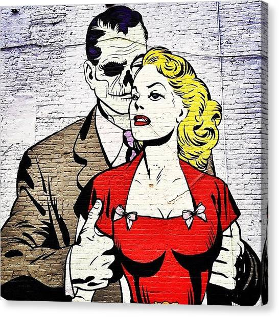 Pop Art Canvas Print - New York City Street Art - Love - Zombie Style by Vivienne Gucwa