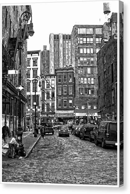 New York City Street Scene Canvas Print by Scott Massey