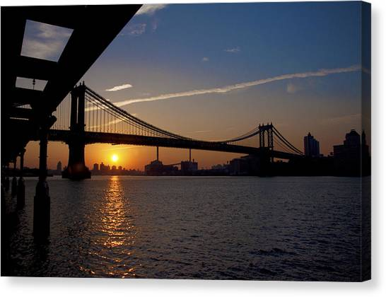 City Sunrises Canvas Print - New York City Sunrise by Bill Cannon