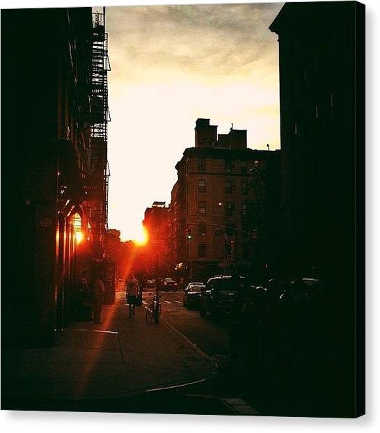 Times Square Canvas Print - New York City Sunset by Vivienne Gucwa