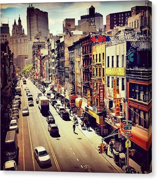 Times Square Canvas Print - New York City's Chinatown by Vivienne Gucwa